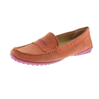 VANELi Womens Arela Suede Perforated Penny Loafers