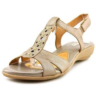 Naturalizer Capricorn Open-Toe Leather Slingback Sandal