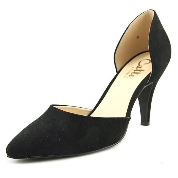 Callisto Felicitas Women Round Toe Suede Black Heels