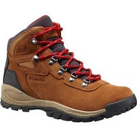 Columbia Women's Newton Ridge Plus Waterproof Hiking Boot Elk/Mountain Red