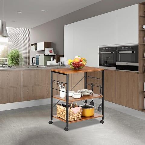 Baker's Rack 3-Tier Microwave Oven Stand Storage Cart Kitchen Rack