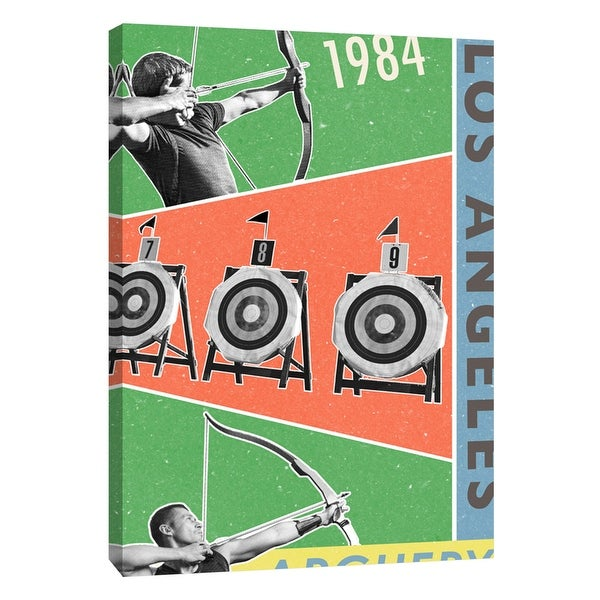 """PTM Images 9-109128 PTM Canvas Collection 10"""" x 8"""" - """"Los Angeles Archery 1984"""" Giclee Sports and Hobbies Art Print on Canvas"""