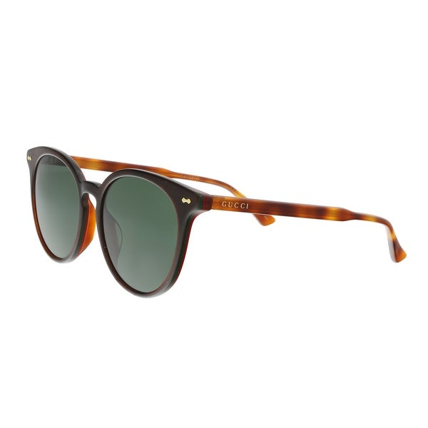 cfe2d3d3df Shop Gucci GG0195SK-005 Brown Amber Round Sunglasses - 55-18-150 ...
