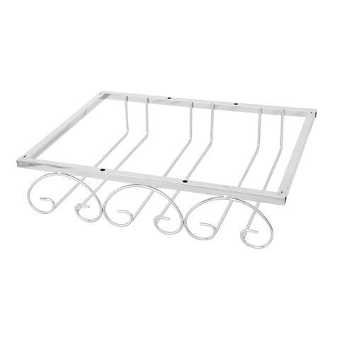 Stainless Steel 3 Rows Bars Goblet Stemware Wine Glass Rack Holder 32x20x 6cm