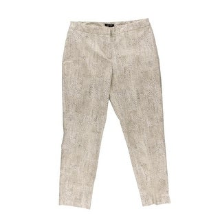 Nic + Zoe Womens Stretch Snake Print Skinny Pants