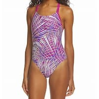 Speedo Fuchsia Purple Womens Size 6 Pro LT One-Piece Swimsuit