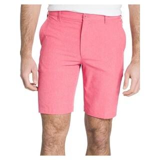 Izod Mens Shorts Flat Front Stretch Waistband