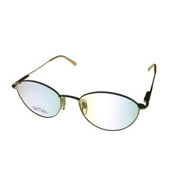 Bob Mackie Mens Opthalmic Eyeglass Metal Round BM 800 185 Gold / Silver - Medium