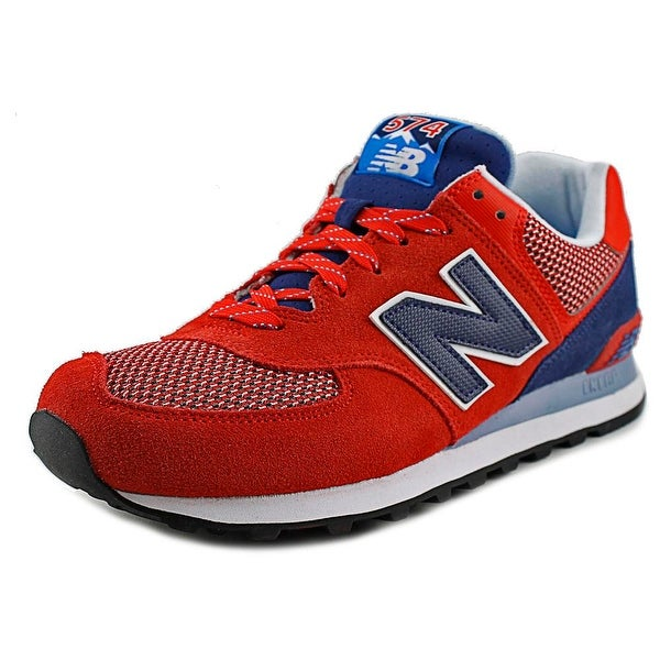 New Balance ML574 Men Round Toe Synthetic Red Sneakers
