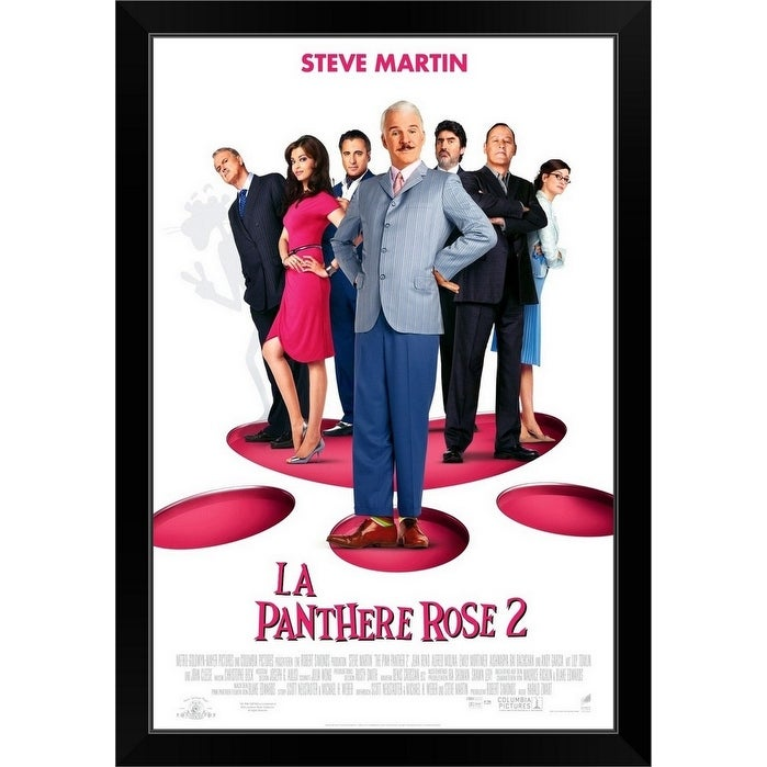 Shop Pink Panther 2 Movie Poster French Black Framed Print On Sale Overstock 30198561