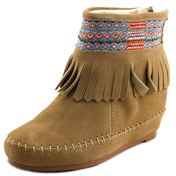 Kim & Zozi Muse Women Round Toe Suede Tan Ankle Boot