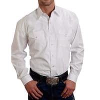 Stetson Western Shirt Mens Snap Solid L/S White