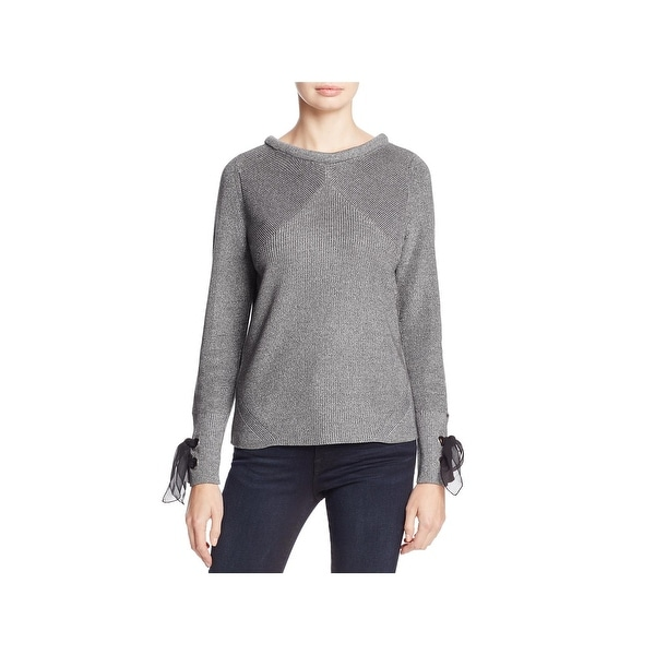 Nic + Zoe Womens Pullover Sweater Knit Heathered