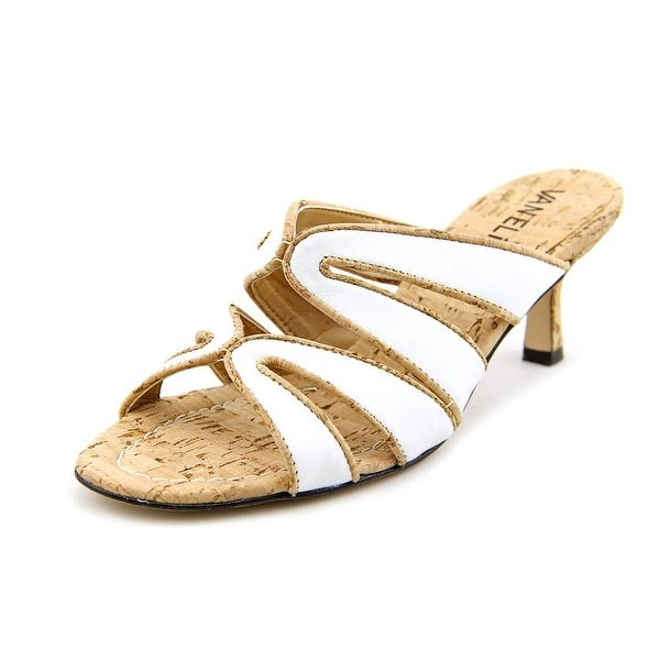 Vaneli Matilda Women N/S Open Toe Leather White Sandals