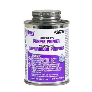 Oatey 30755 Lo-VOC PVC/CPVC Primer, 4 Oz, Purple