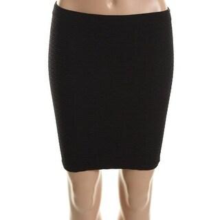 Aqua Womens Textured Fitted Mini Skirt - S/M