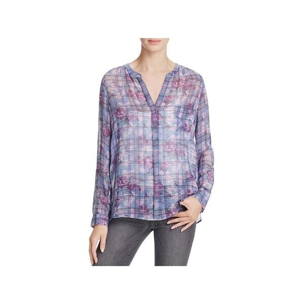 a9445760 Shop Joie Womens Brigid C Blouse Silk Floral Print - Free Shipping ...