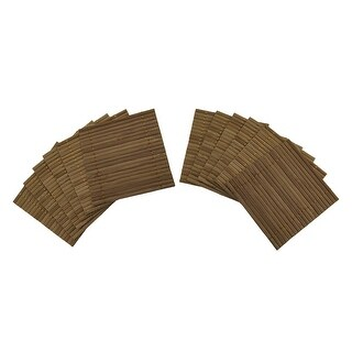 12 Piece Set of 4 x 4 inch Bamboo Mat Drink Coasters