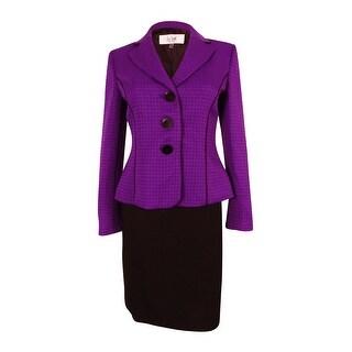 Le Suit Women's Monte Carlo Skirt Suit - amethyst/black