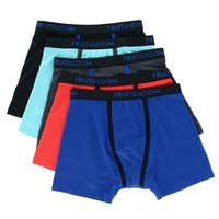 Fruit of the Loom Boy's Breathable Micro Mesh Boxer Brief (5 Pair Pack)