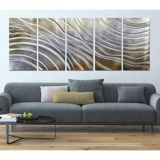 Link to Statements2000 Gold & Silver Abstract 3D Metal Wall Art by Jon Allen - Glacial Rift Similar Items in Wall Sculptures
