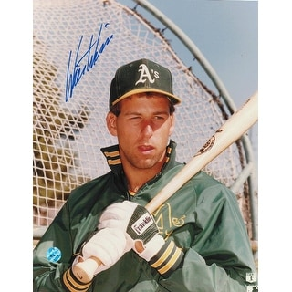 Walt Weiss Oakland Athletics Autographed 8x10 Photo -Posing by the Batting Cage-