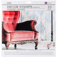 "Iron Orchid Designs Decor Clear Stamps 12""X12""-Portico"
