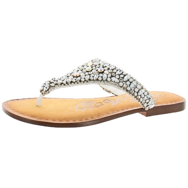 Naughty Monkey Angelina Women's Beaded Thong Sandal