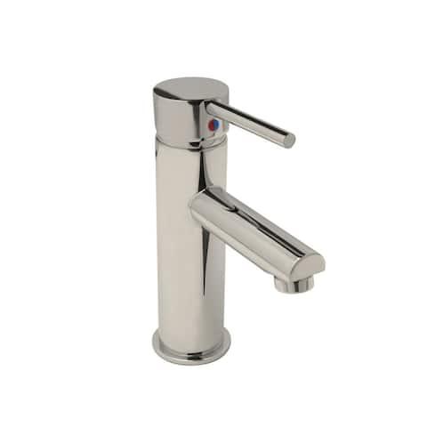 Tall Euro Single Hole Bathroom Faucet, PVD Polished Nickel Finish - Single Hole