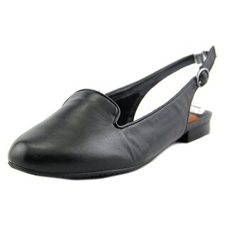 Ros Hommerson Oceana Women SS Round Toe Leather Black Flats