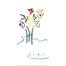 ''Evening Flowers'' by Pablo Picasso Floral Art Print (19.75 x 15.75 in.)