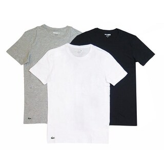 Lacoste Men's Black/Gray/White Crewneck 3-Pack Undershirt