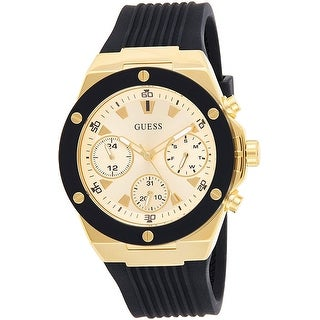 Link to Guess Woman's GW0030L2 Athena Gold-Tone Stainless Steel With Silicone Strap - One Size Similar Items in Men's Watches