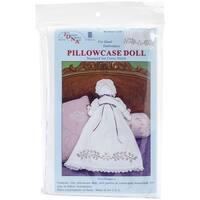 Stamped White Pillowcase Doll Kit-XX Starflowers