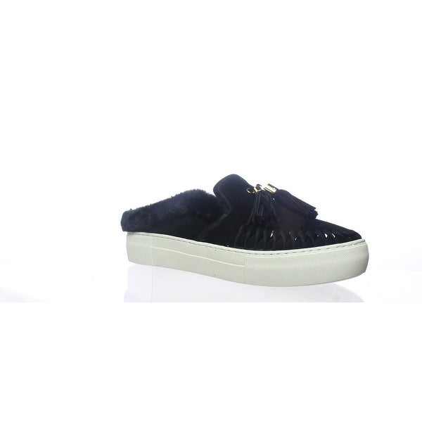 fb06bfed4ea35 Shop J/slides Womens Azul Black Suede Mules Size 8 - On Sale - Free ...