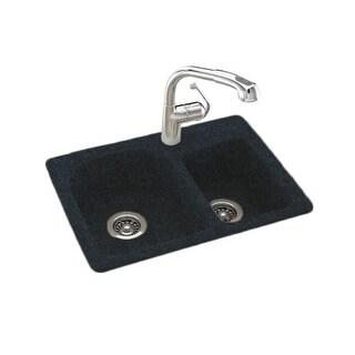 "Swanstone KSDB-2518 Space-Saver Double Basin Swanstone Kitchen Sink 25"" W x 18"" D"