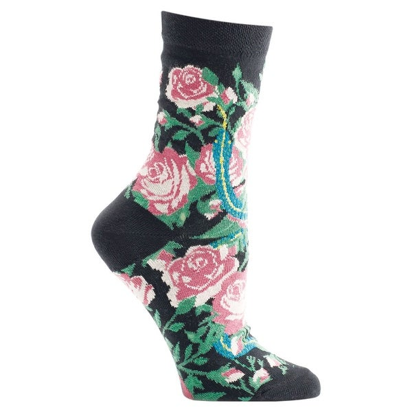 Women's Witches' Garden and Apothecary Floral Socks - Cotton - Garden Of Eden - Medium