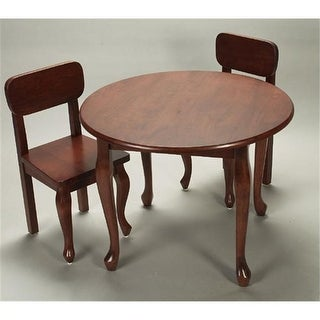 Solid Wood 2 Queen Anne Chair Set Cherry Extra Chairs To Go with