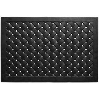 Home & More 90007 Natural Rubber Hampton Weave Doormat