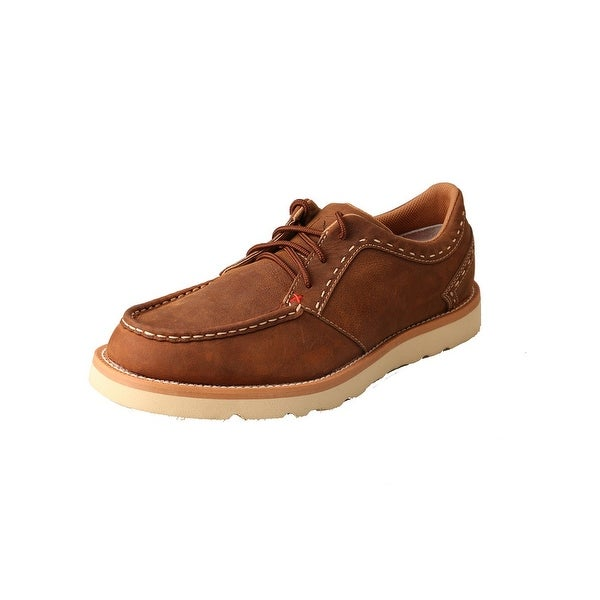 Twisted X Casual Shoes Mens Lace Up Driving Mocs Oiled Saddle