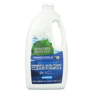 Seventh Generation Auto Dishwasher Gel - Free and Clear - Case of 6 - 42 Fl oz.