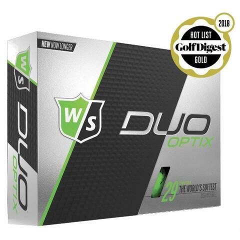 Wilson Staff Duo Optix Golf Balls (12 Balls) Soft 29 Compression Golfing Green - One Size