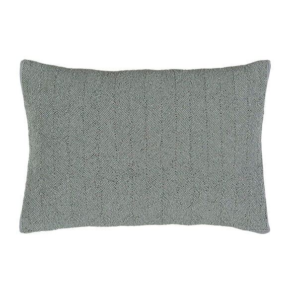 """13"""" x 20"""" Taupe Gray Woven Decorative Throw Pillow - Down Filler"""