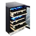 Kalamera 24'' 46-bottle Wine Cooler Refrigerator Built-in Dual Zone, Stainless Steel Door & Handle - Thumbnail 2
