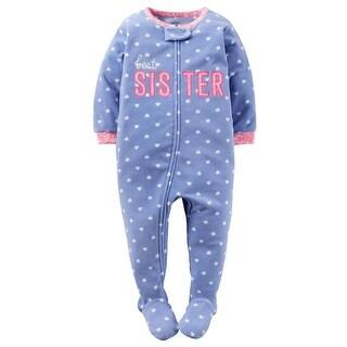 Carters Girls 12-24 Months Best Sister Sleeper - Blue