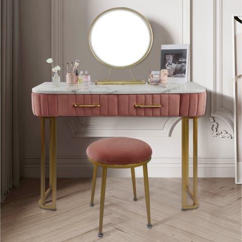 Vanity Set with Stool & Mirror