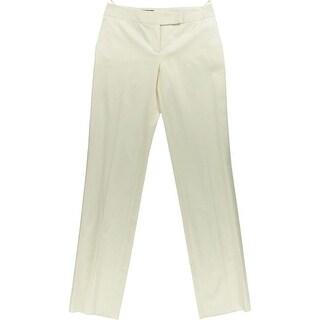 Loro Piana Womens Solid Flat Front Dress Pants - 42