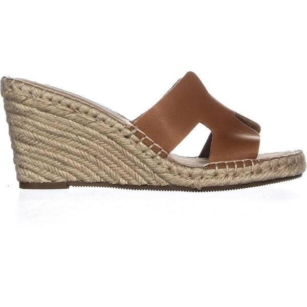 bf201a5ba41 Shop STEVEN Steve Madden Eryk Wedge Sandals, Cognac Leather - 6.5 us ...