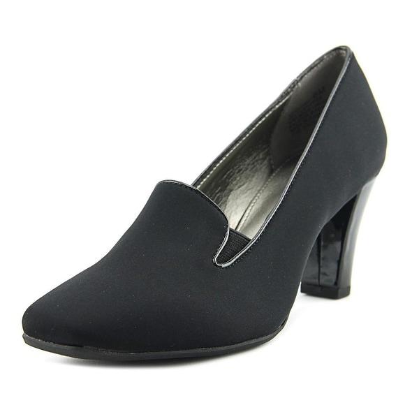 Bandolino Vavara Women Round Toe Canvas Black Heels