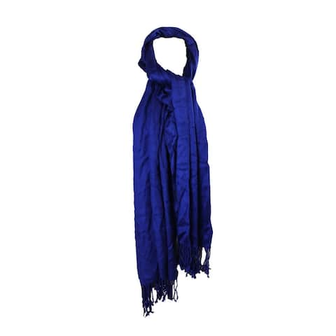 Inc International Concepts Jazz Blue Solid Scarf OS
